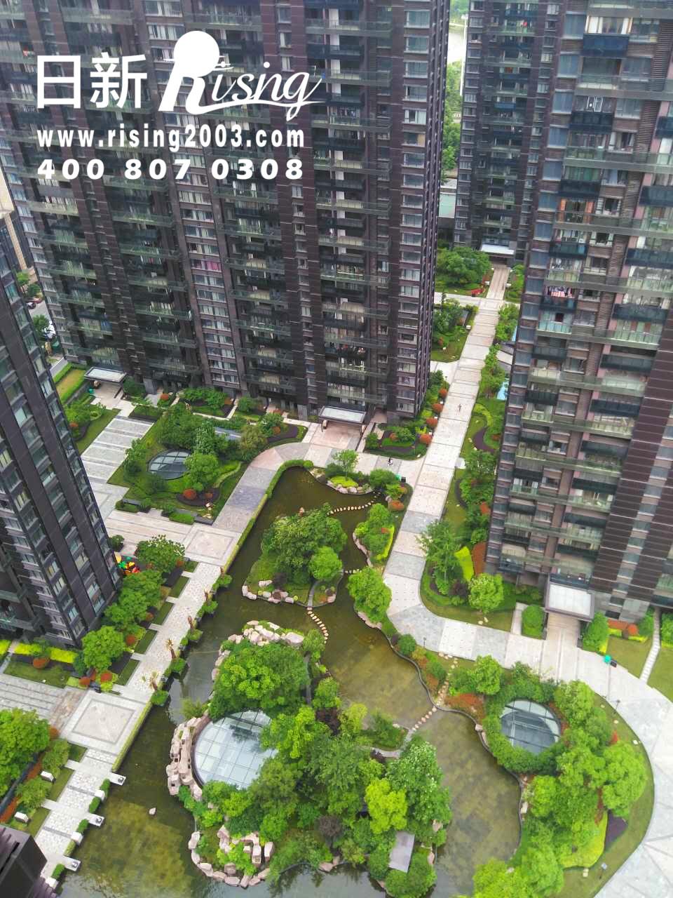 风冷热泵系统:桐乡东湖金悦A项目