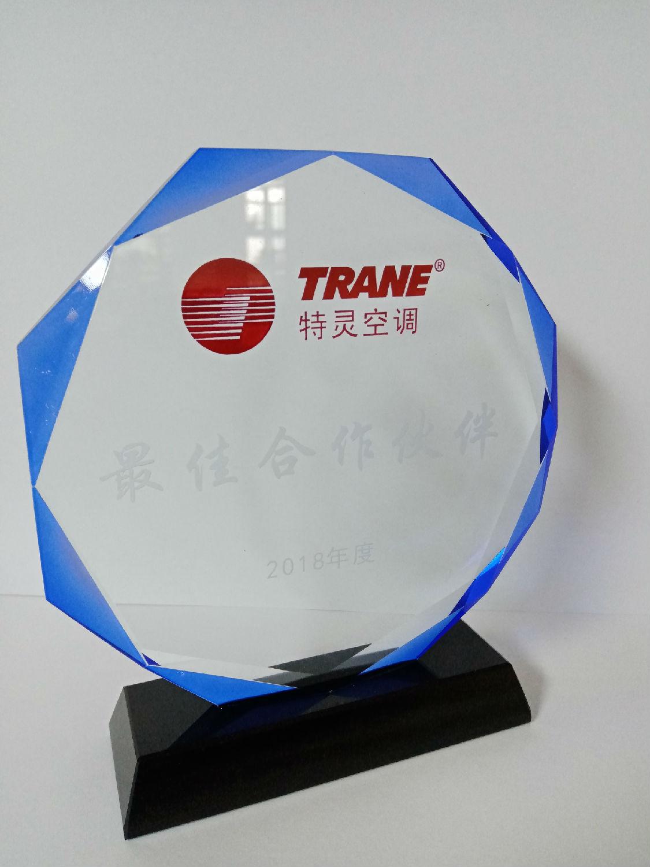 2018年度特灵空调最佳合作伙伴奖